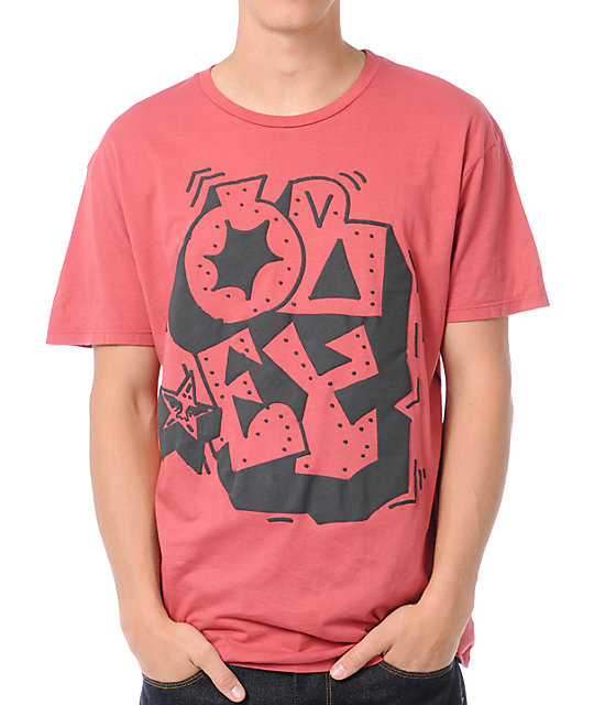 Obey Wildstyle Brick Red Thrift T-Shirt