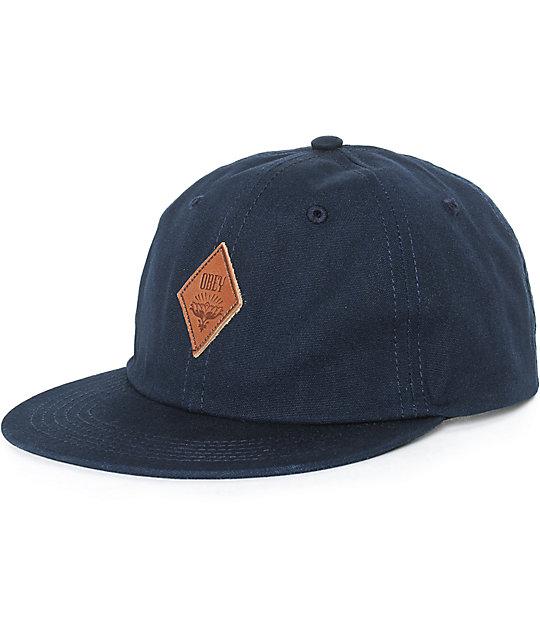 obey wiley throwback baseball strapback hat