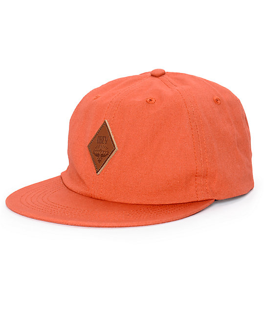 obey wiley throwback baseball strapback hat at zumiez pdp
