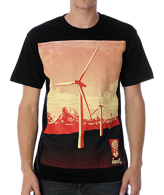 Obey Windmill Black T-Shirt