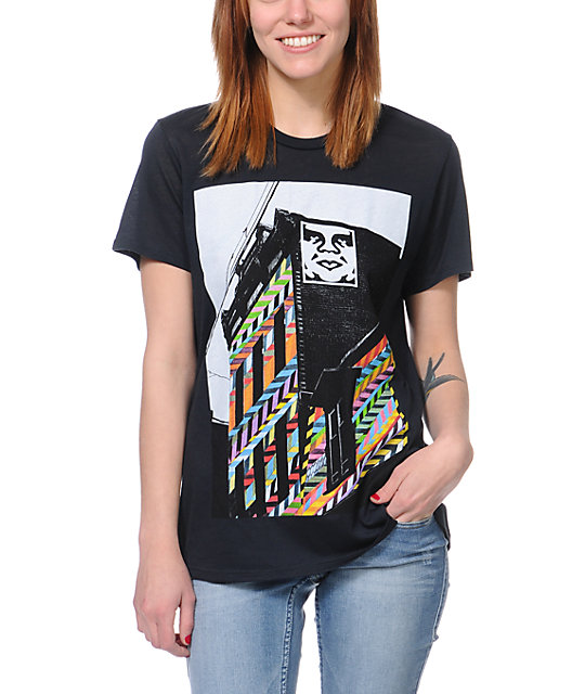 Obey Woodside Pittsburgh After Hours Black T-Shirt