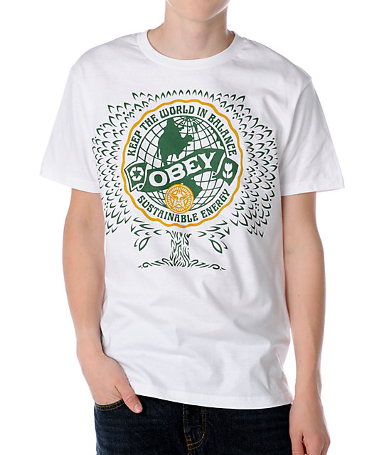 Obey World Balance White T-Shirt
