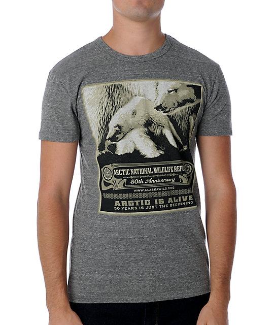 Obey x ANWR 50th Heather Grey T-Shirt