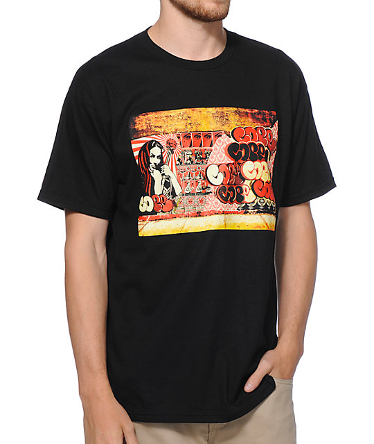 Obey x Cope2 Poster Black T-Shirt