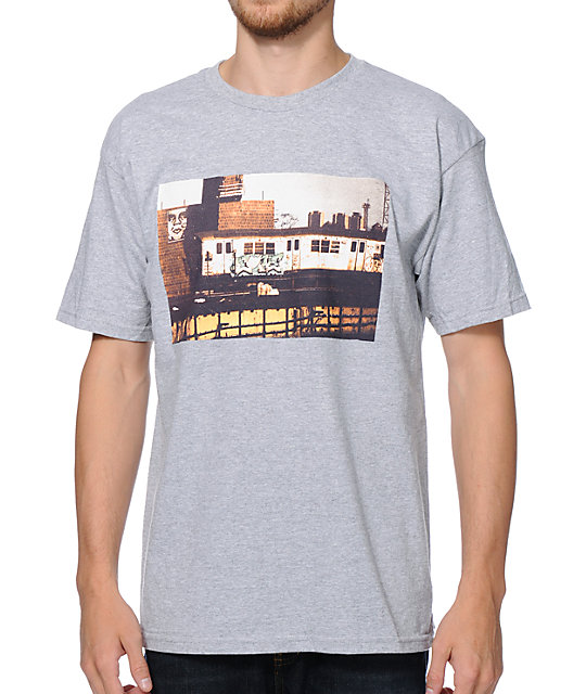 Obey x Cope2 Subway Poster Grey T-Shirt
