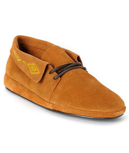 Obey x Generic Surplus Mingus Tan Suede Shoes