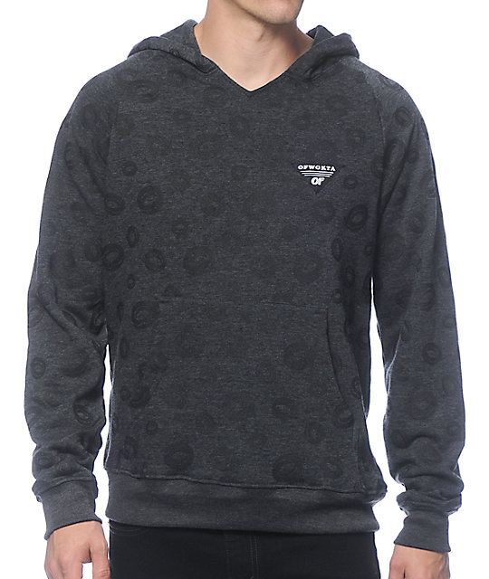 Odd Future All Over Donut Charcoal Hoodie