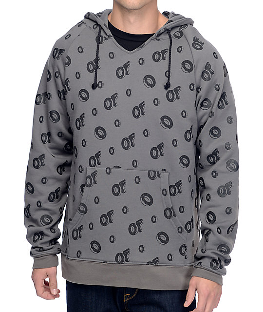 Odd Future All Over Grey & Black Hoodie