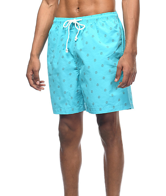 Odd Future Allover Donut Aqua Board Shorts