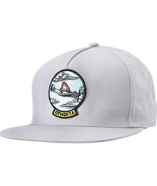 Odd Future Burning Plane Grey Snapback Hat
