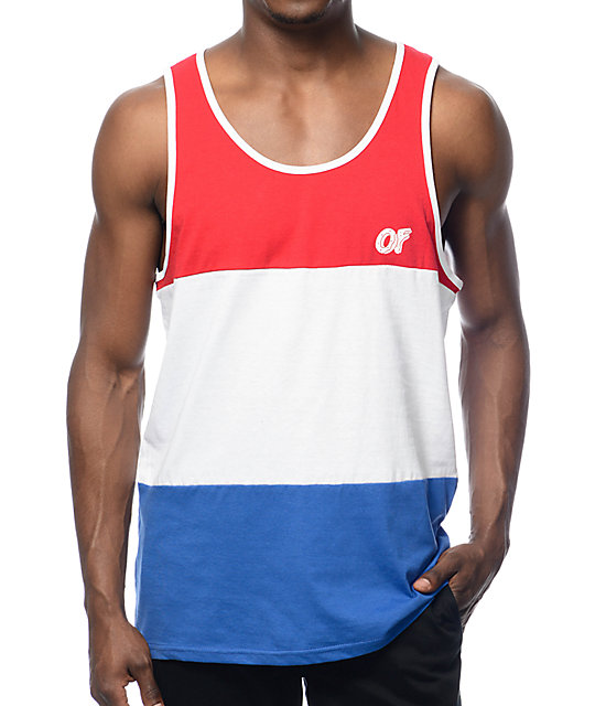 Our patriotic tank tops men's shirts are great for a look that is casual and shows your love of the Red, White, and Blue! Choose from a range of styles when it comes to the pattern or graphics. From shirts with a blue background and stars all over to shirts in tie-dye graphic for a groovy option, our options display a range of stylish men's U.S.