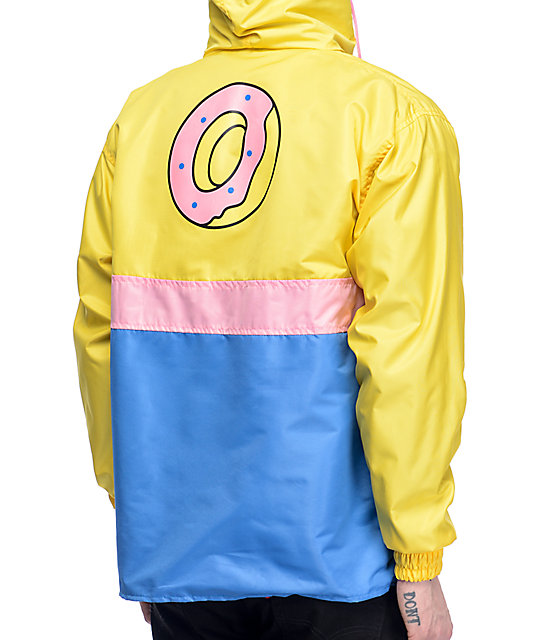 Odd Future Color Block Yellow, Pink & Blue Anorak Jacket