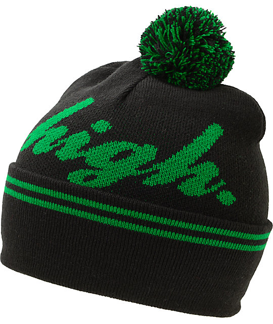 Odd Future Domo High Black & Green Pom Cuff Beanie
