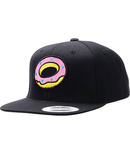Odd Future Donut Black Snapback Hat