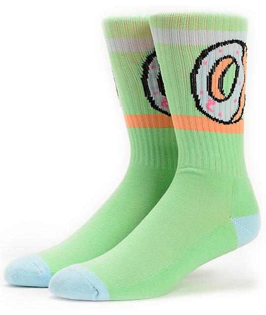 Odd Future Donut Mint Green Crew Socks