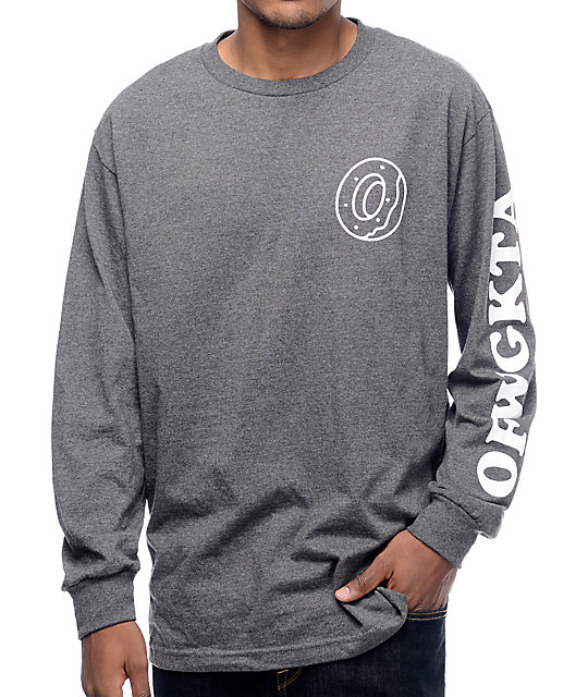 Future Donut OFWGKTA Grey Long Sleeve T-Shirt