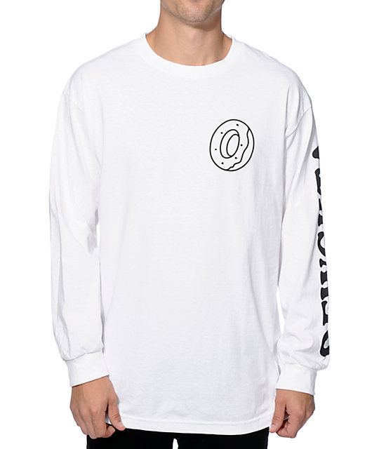 Odd future donut ofwgkta long sleeve t shirt at zumiez pdp for Mens long sleeve white t shirt