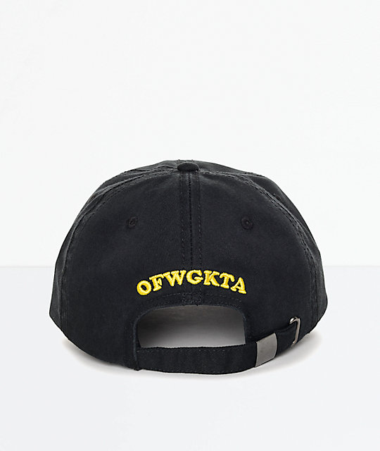 Odd Future Embroidered Donut Black Polo Strapback Hat