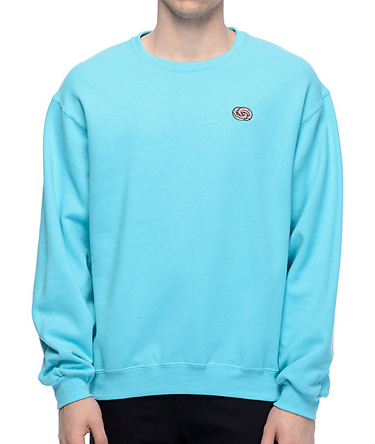 Odd Future Eternity Rings Embroidered Mint Crew Neck Sweatshirt
