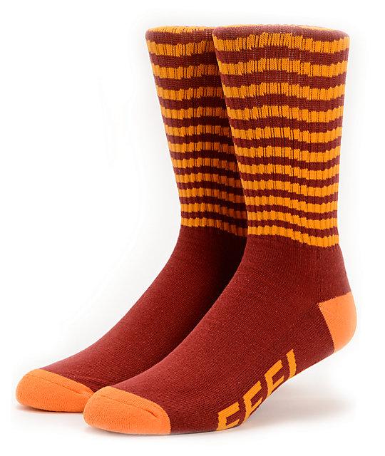 Odd Future Feel Good Red & Orange Crew Socks