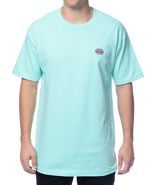 odd future infinity donut embroidered mint tshirt at