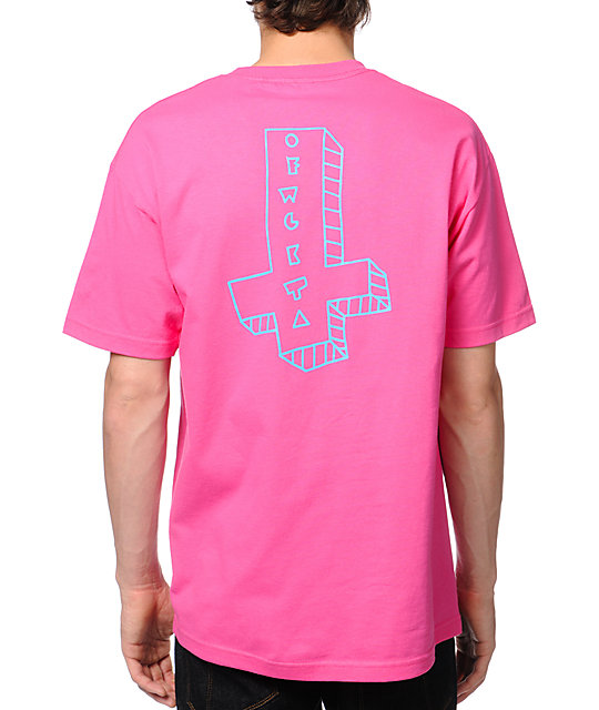 Odd Future Its Us Cross Pink T-Shirt