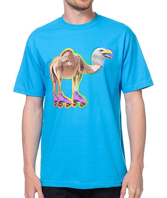 Odd Future Loiter Squad Cameagle Turquoise T-Shirt