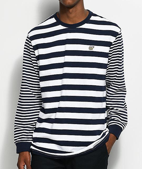 Mens Long Sleeve Striped T Shirt