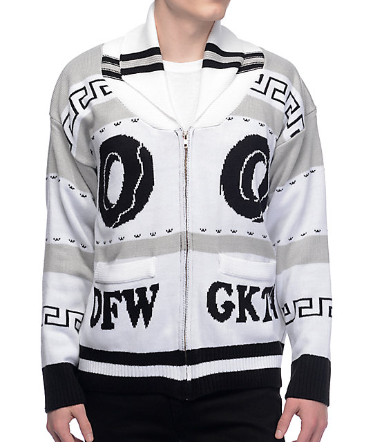 Odd Future OFWGKTA Black & White Knit Cardigan