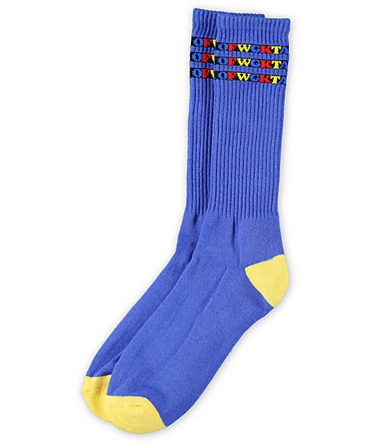 Odd Future OFWGKTA Blue Gradient Crew Socks