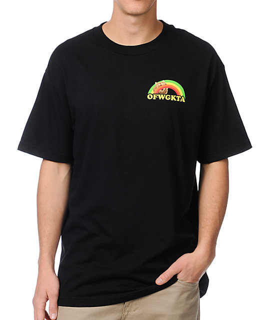 Odd Future Rainbow Cat Black T-Shirt
