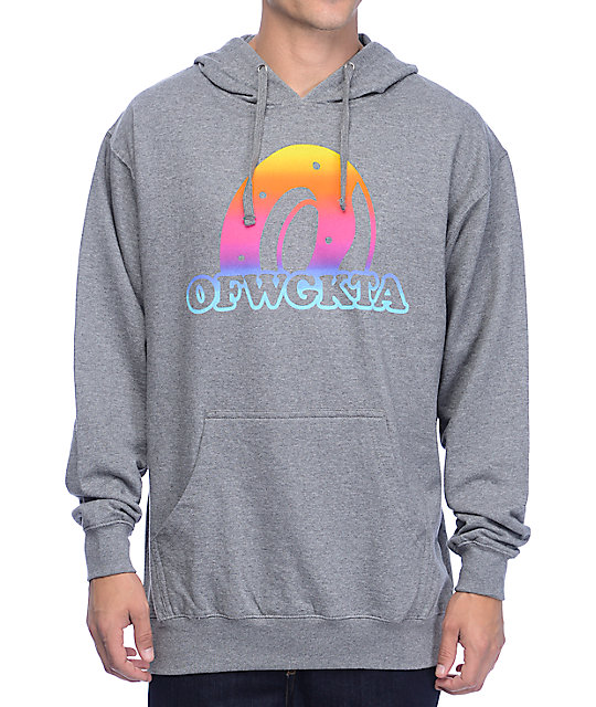Odd Future Rainbow Donut Dark Grey Hoodie