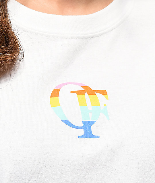 Future Manga Larga Camiseta Blanca De Rainbow Odd Nn0wOZX8Pk