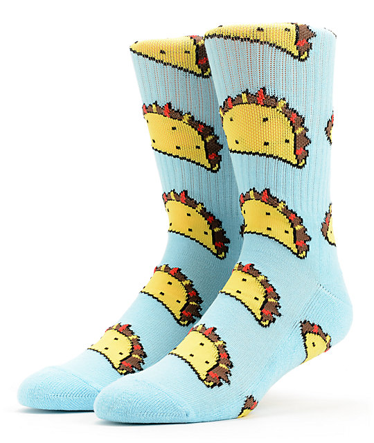 Odd Future Taco Light Blue Crew Socks