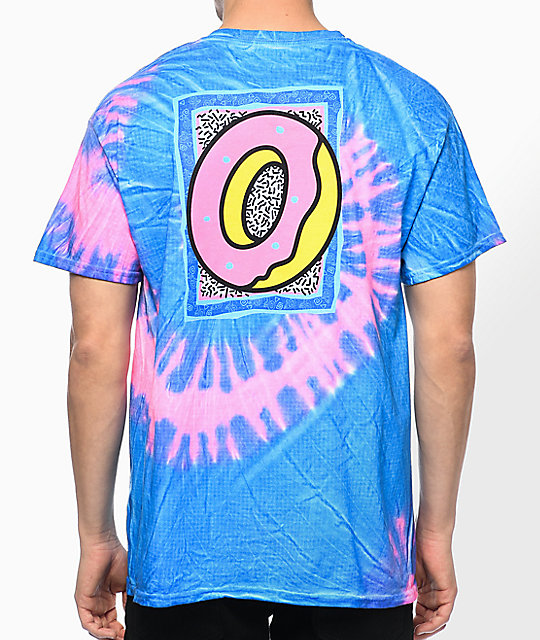 Odd Future Tour Pink & Blue Tie Dye T-Shirt