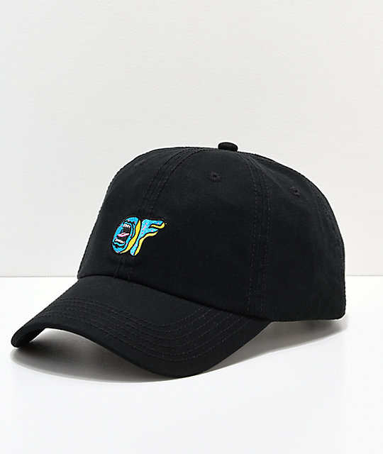 Odd Future X Santa Cruz Screaming Donut Black Strapback Hat by Odd Future