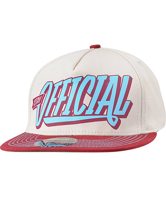 Official Burgs Turquoise & Burgundy Snapback Hat