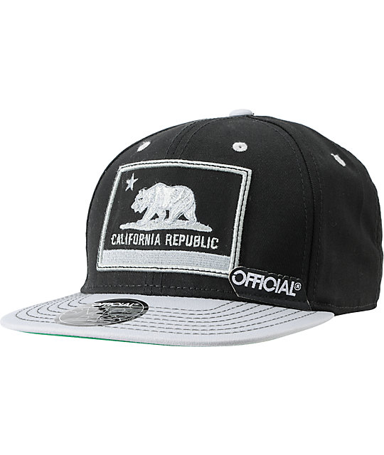 Official Cali Nation Grey & Black Snapback