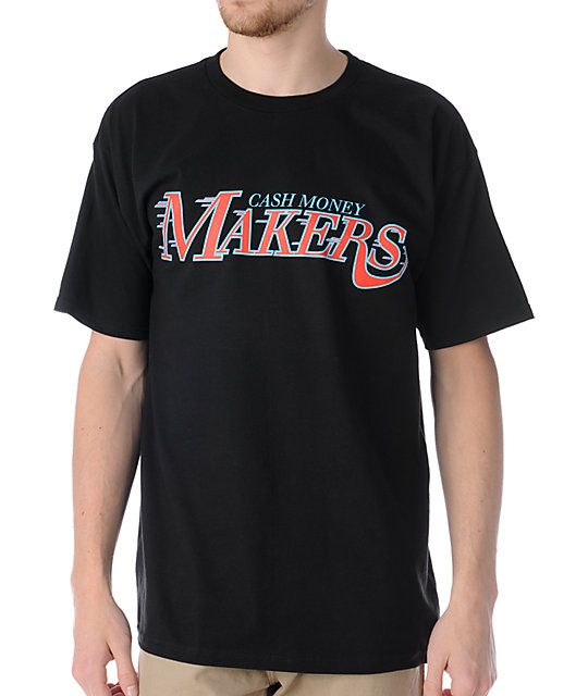 Official cash money makers black t shirt for How to make money selling custom t shirts