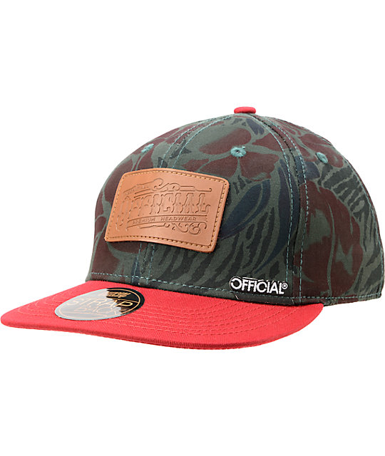Official Crown Of Laurel Mahalo Rose Strapback Hat