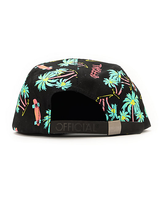 Official Crown Of Laurel Skate Hawaiian Black 5 Panel Hat