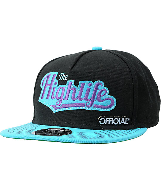Official Highlife Black & Teal Snapback