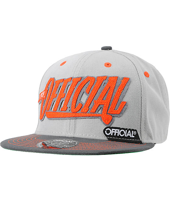 Official Krushin Orange & Grey Snapback Hat