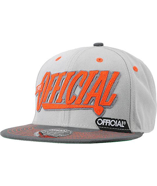 Official Krushin Orange & Grey Snapback Hat