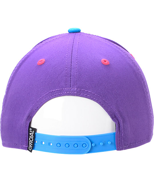 Official Legalize Purps Real Woody Purple & Camo Snapback Hat