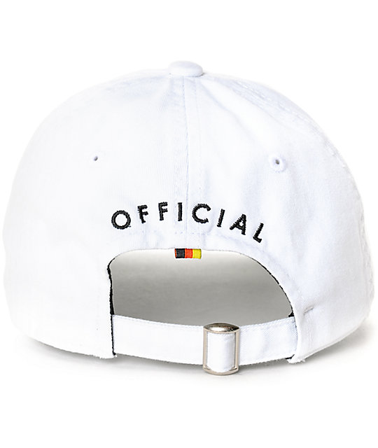 Official M3eezy White Strapback Hat