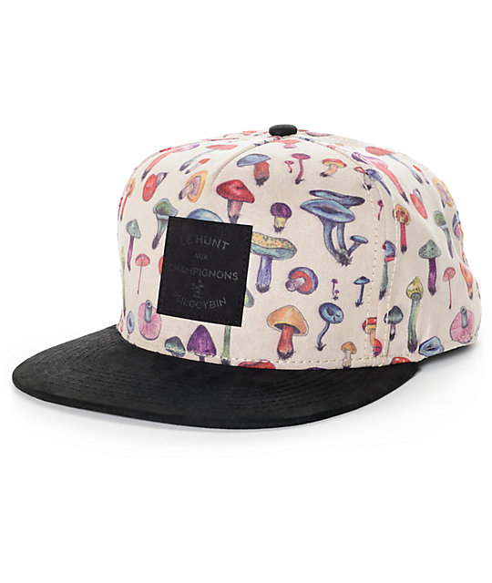 Official Mushroom III Khaki and Black Strapback Hat