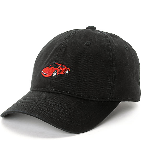 Official Rarri Black Molded Strapback Hat