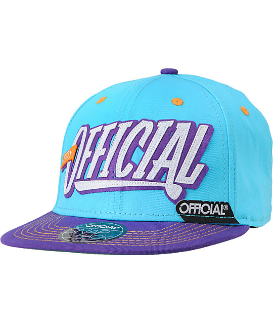 Official Stay Official Turquoise & Purple Snapback Hat
