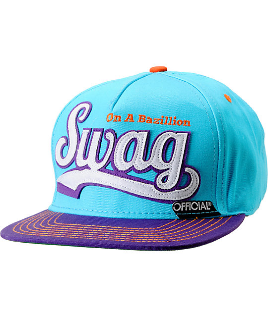 Official Swag Turquoise & Purple Snapback Hat